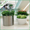 FO-9003 Cylinder Stainless Steel Flower Pot, Outdoor Planter