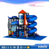Space Theme Indoor Playground and Outdoor Playground Tube Slide