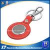 Custom Red Leather Promotional Keychain (ELE-K180)