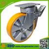 150mm Total Brake Yellow PU Wheel Caster