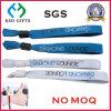 Advertising Polyster Fabric Silk Pring Custom Logo Woven Bracelet