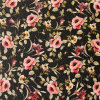 Printed Flower PU Leather for Bags (A840)