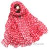 Fashion Tartan Check Woven Viscose Stole / Womne′s Scarf (HWBVS033)