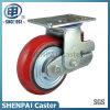 """6""""Heavy Duty Single Springs PU Swivel Shockproof Caster Wheel"""