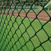 School Playground 9 Gauge Diamond Hole PVC Coated Chain Link Fencing