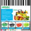 Supermarket Plastic Handle Shopping Basket Manufacturer