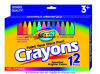 12PCS Color Crayons for School Children