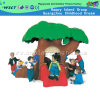 Lovely Tree House Plastic Slide for Kids Play (M11-09502)