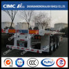 (80tons load) Cimc Huajun 40FT 3axle Flatbed Trailer with Strengthened Beam