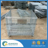 Warehouse Storage Folding Stackable Steel Wire Mesh Container