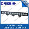 "26"" Single Row 140W Super Bright CREE Light Bar LED"