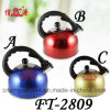 Stainless Steel Colors Whistling Kettle (FT-2810)