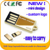 Mini Design USB Flash Drive Golden Metal USB Memory (ED012)
