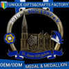 Cheap Custom Design Hollow Castle Medal Black Nickle Medal