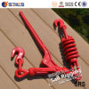 Wholesales Forged Handle Red Spraying Chain Spring Load Binder with Hooks