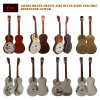Aiersi Parlor Resonator Guitar Cutway Electric Guitar with Pickup