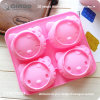 Four Hello Kitty Face Shaped Silicone Cake Molds with 13.5*14.5*3cm