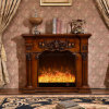 Home Furniture sculpture European LED Lights Heating Electric Fireplace (318)