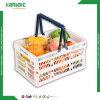 Korea Popular Stackable Foldable Plastic Folding Basket Crate