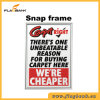 Silver Aluminium Promotion 25mm Profile Snap Frame/Picture Frame