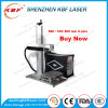 30W Portable Fiber Laser Engraving Machine on Stainless Steel with Rotary