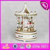2015 Colorful Carousel Music Box Horse, Wholesale Cheap Merry-Go-Round Wood Music Toy, Wholesale Horse Carousel Music Box W07b010c
