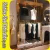PVD Color Coating 304 Stainless Steel Clothes Display Rack