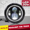7 Inch Round 30W IP68 Waterproof Jeep Wrangle LED Headlight (PD7SL-30)