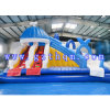 Giant Inflatable Water Slide with Pool/Tropical Inflatable Big Water Slide with Pool