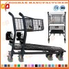 Stylish Metal Compact Supermarket Handling Shopping Basket Trolley Cart (Zht197)