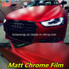 Matte Chrome Ice Film, Red Matte Chrome Vinyl Film for Vehicle Wrapping