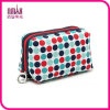 Ladies Women Dots Printing Rectangle Contents Cosmetic Zippered Purse Makeup Bag Ring Holder