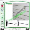Metal Chrome Single Prong Hook of Slatwall Display Shelf