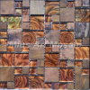 Gold Foil Glass Mosaic Mixed Copper Tile A6YBG019