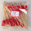 Disposable Conventional Cheap Bamboo Fruit Pick with Red Aple Pattern