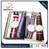 Hot Selling Promotional Mens Nylon Strap Watches Changeable Strap Stainless Steel Sports Watch (DC-040)