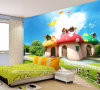 New Design Waterproof Popular Decoration Cartoon Mushroom Wallpaper