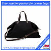 Designer Black Canvas Travel Bag for Women