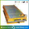 Wood Factory Use Stationary Hydraulic Scissor Lift Table with Roller