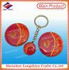 Wholesale Cheap Shinny Round Keychain Red Printing Keychain