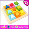 2015 New Wooden Toy Geometric Shapes, Educational Toy Geometric Shapes Puzzle, Wooden Toy Geometric Block Set W13e059