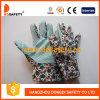 Flower Cotton Gardening Band Cuff Dots Garden Glove Dgb104