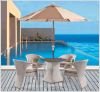 Outdoor Leisure Furniture Rattan 4+1 Table and Chair