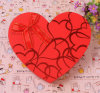 Red Hot Stamping Heart Shape Make-up Box