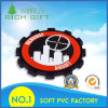 Manufacturer for PVC Coaster with Wheel Gear Shape