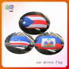 Stretch Fabric USA Car Mirror Cover with Custom Designs Flags