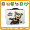 Metal Gift Tin Lunch Box, Lunch Tin Box with Handle