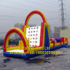 Inflatable Rainbow Climbing Wall Sport Games, Inflatable Rock Climbin