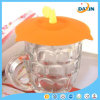 Leaf Shape Eco Friendly Silicone Cup Lids