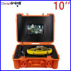 Waterproof 23mm Video Pipe Inspection Camera Cr110-10g with 10′′ Digital LCD Screen with 20m to 100m Fiber Glass Cable